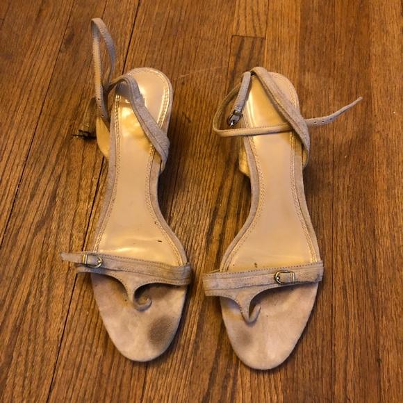 Zara suede kitten heel sandals